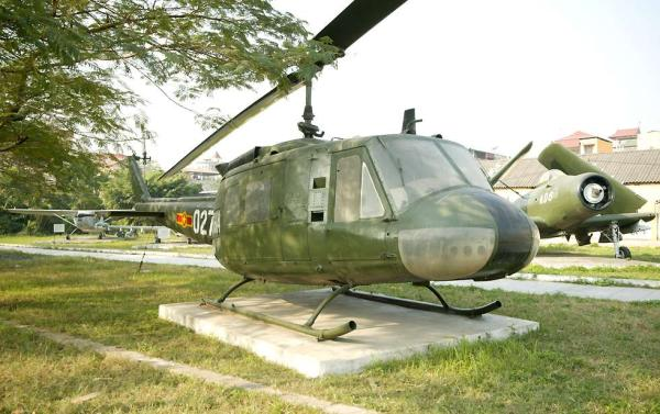 captured UH-1 Iroquois helicopter in Vietnamese Air Force colors