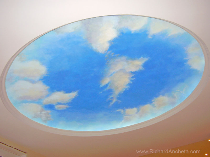 Dome Clouds Ceiling Painting Montreal