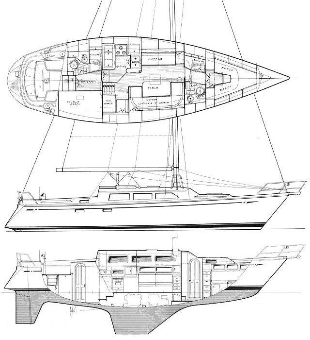 Cal 44 Line Drawings
