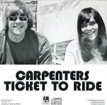 Image result for ticket to ride the carpenters single images