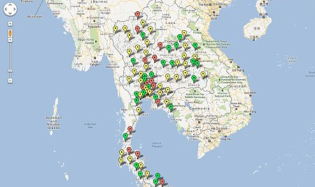 Google Map of Road Deaths During Songkran 2012 – Richard Barrow in ...
