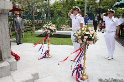 The unveiling ceremony of the War Memorial