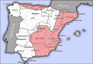 Division of Spain in January 1937