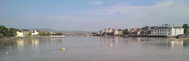 View across the River Shannon from Limerick