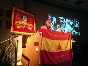 Manuel Moreno discussing the Basque children in Britain
