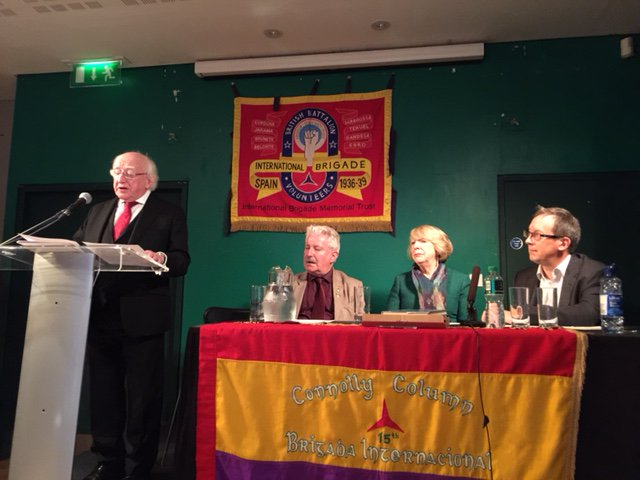 Ireland's President, Michael D. Higgins, addresses the IBMT's AGM in Dublin