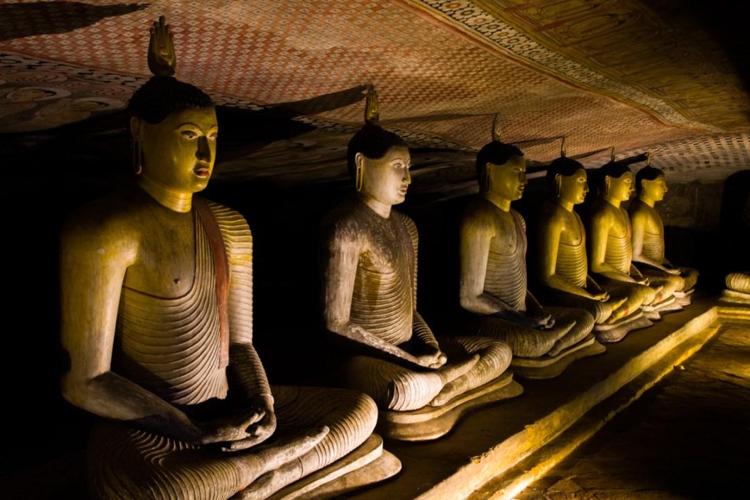 Dambulla Rock Temple in Dambulla, Sri Lanka