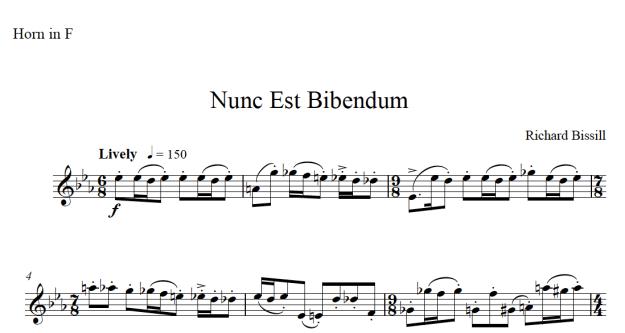 Nunc Est Bibendum, for Solo Horn
