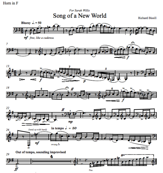 Song of a New World, for Horn and Piano