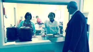 At a Northallerton food bank