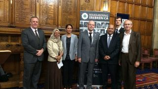 At a Srebrenica commemoration event