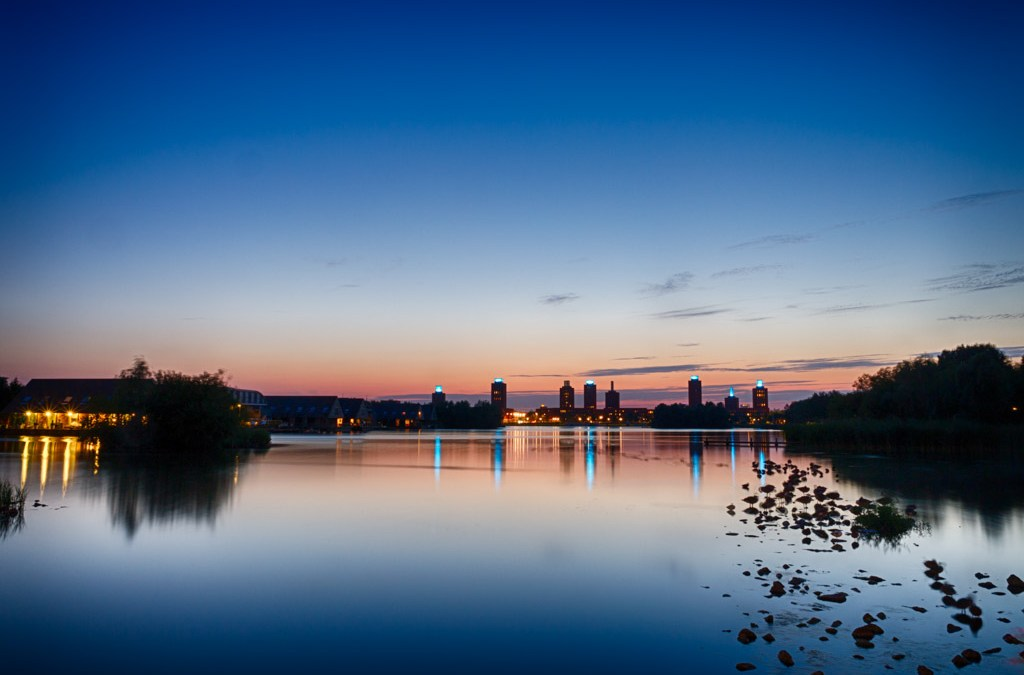 Blauwe uur: Ypenburg torens