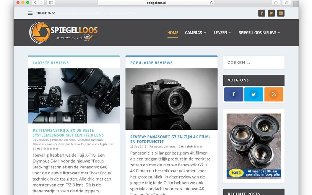 Nieuwe website voor spiegelloos.nl: magazine style