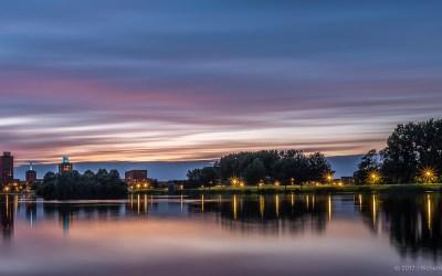 Kleurrijke sunset in Ypenburg