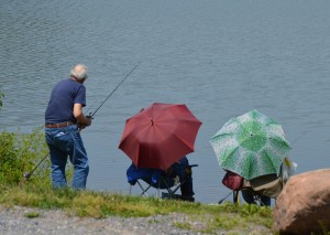 Fisherman and companions