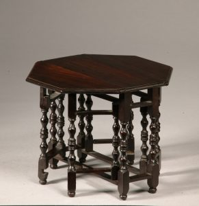 ANTIQUE MINIATURE DROP LEAF TABLE