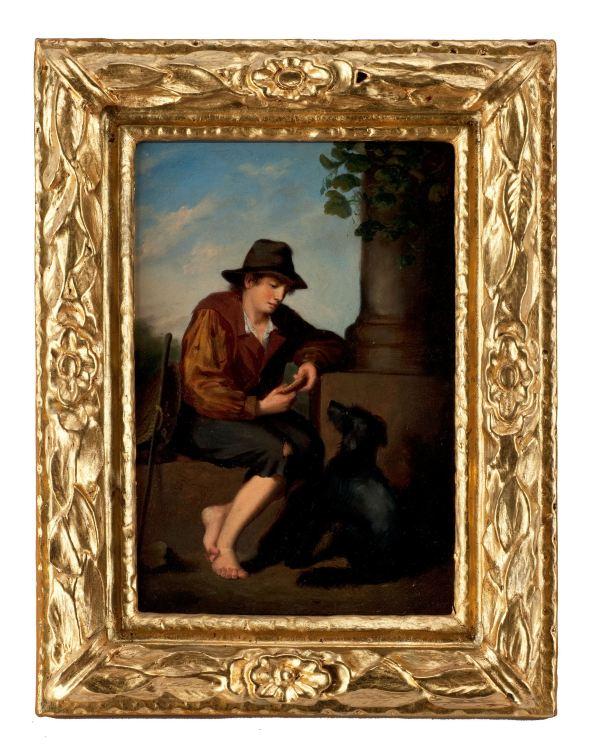 19th-century-oil-painting-Italian-school-man-dog-antique-4078_1_4078