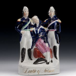 ANTIQUE STAFFORDSHIRE FIGURE DEATH OF NELSON