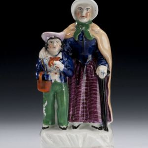 ANTIQUE STAFFORDSHIRE FIGURES COPPERFIELD & PEGGOTTY