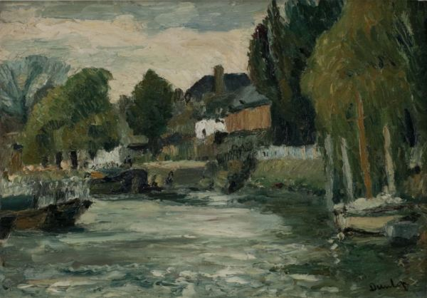 RONALD OSSORY DUNLOP-OIL PAINTING-PAGHAM SUSSEX