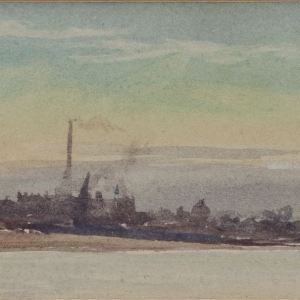 WILLIAM LIONEL WYLLIE-WATERCOLOUR-ON THE MEDWAY
