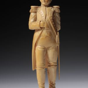 ANTIQUE CARVED DIEPPE IVORY FIGURE OF NAPOLEON
