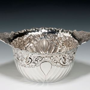 ANTIQUE SILVER BOWL PROBABLY FOR SUGAR