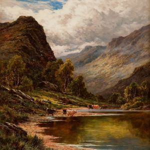 HENRY DEACON HILLIER-OIL PAINTING-LOCH TAY PERTHSHIRE