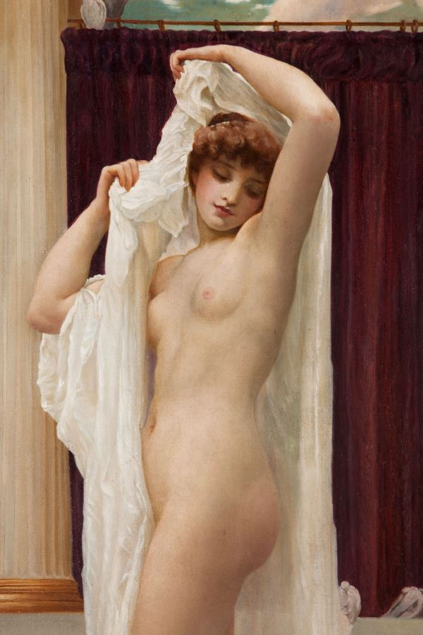 AFTER FREDERICH LORD LEIGHTON-OIL PAINTING-BATH OF PSYCHE