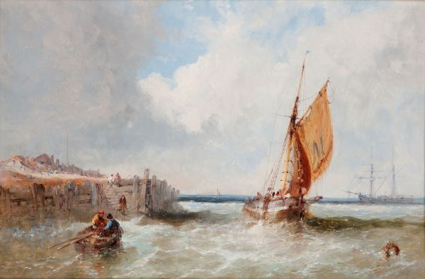 JAMES EDWIN MEADOWS-OIL PAINTING-SAILING BOATS