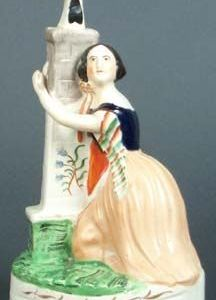 """ANTIQUE STAFFORDSHIRE FIGURE OF JENNY LIND AS """"ALICE"""""""