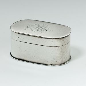 ANTIQUE SILVER OVAL SHAPED NUTMEG GRATER