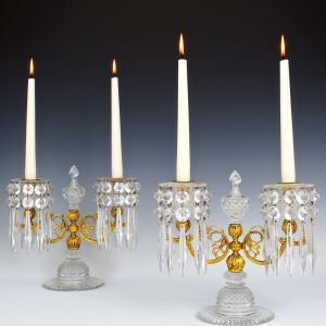 FINE PAIR OF REGENCY PERIOD CANDELABRA
