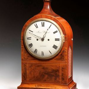 ANTIQUE MAHOGANY BRACKET CLOCK BY JAMES DUNCAN