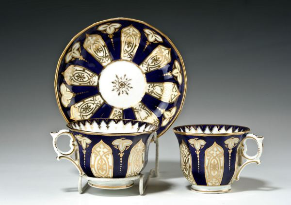 ANTIQUE CHAMBERLAINS PORCELAIN SAUCER TEA COFFEE CUP