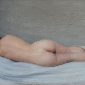 CHARLES CLEMENT FRANCIS PERRON-OIL PAINTING-FEMALE NUDE