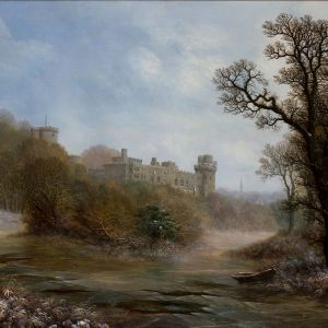 CHARLES LEAVER OIL PAINTING WARWICK CASTLE