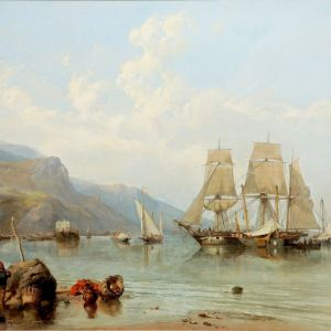 CLARKSON STANFIELD-OIL PAINTING-VIETRI SALERNO