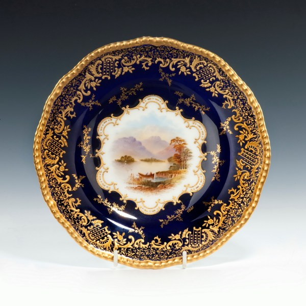 Coalport-porcelain-dessert-service-Scottish-Loch-Scenes-antique-image-210