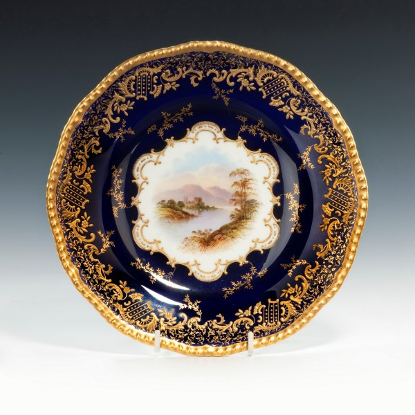 Coalport-porcelain-dessert-service-Scottish-Loch-Scenes-antique-image-211