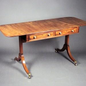 ANTIQUE GEORGE III MAHOGANY SOFA TABLE