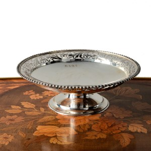 ANTIQUE SILVER DISH OR FRUIT STAND