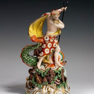 ANTIQUE DERBY PORCELAIN FIGURE OF NEPTUNE