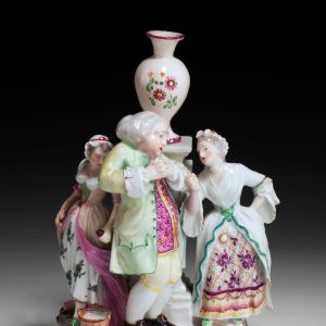 ANTIQUE DERBY PORCELAIN GROUP THE UNFAITHFUL HUSBAND