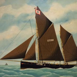 E G TENCH-OIL PAINTING-SAILING SHIP