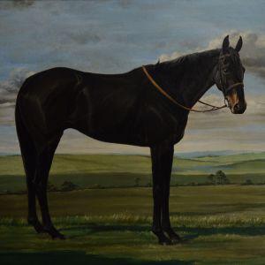 ERIC F ROWE-OIL PAINTING-HORSE PORTRAIT-PARHELION