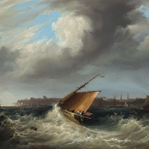 FREDERICK CALVERT OIL PAINTING MARINE COWES