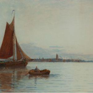 GEORGE STANFIELD WALTERS-WATERCOLOUR PAINTING-GORINCHEUS