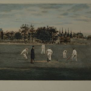 THOMAS M HENRY ENGRAVING CRICKET FIELDS HARROW