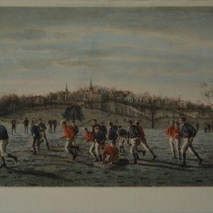 THOMAS M HENRY ENGRAVING FOOTBALL FIELDS HARROW
